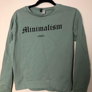 Women's Sage Green Minimalism Sweatshirt